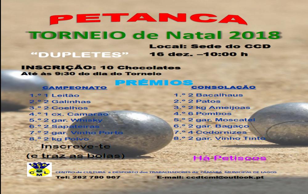 TORNEIO DE PETANCA DE NATAL